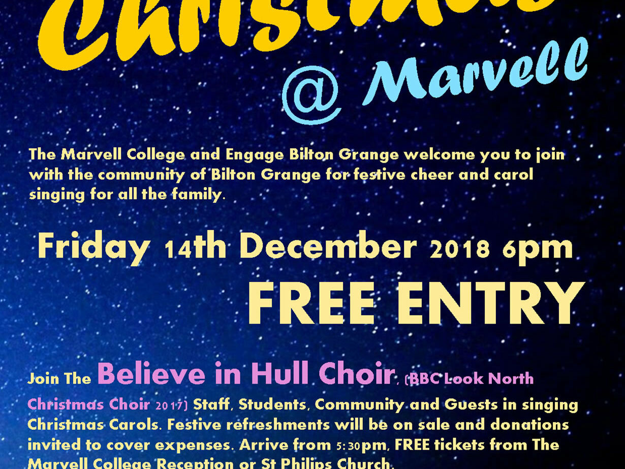 Carols At Marvell Poster 2018