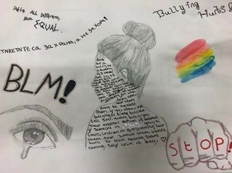 Yr 8 Anti Bullying Artwork