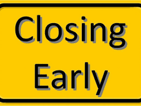 Early Closure 18 Dec 20