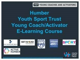 Humber Youth Sport Trust Young Coach Activator E Learning Course Jan 21